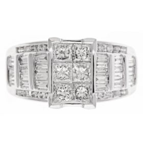 1.95 CT. T.W.  Diamond Fashion Ring in 14K White Gold
