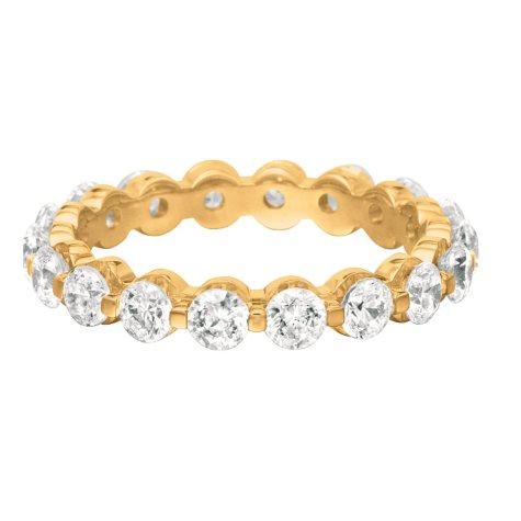 14K Yellow Gold Prong-Set Diamond Eternity Band (I, I1) - 3.5mm