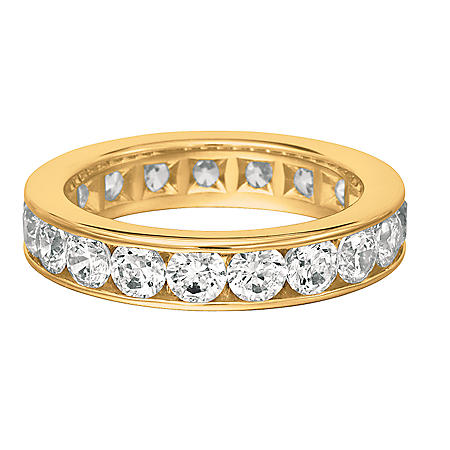 Channel-Set Diamond Eternity Band in 14K Yellow Gold - 5mm (I, SI2)