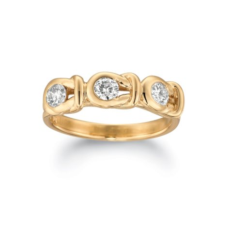1.00 ct. t.w. Everlon™ 3-Stone Diamond Ring in 14K Yellow Gold (I, I1)