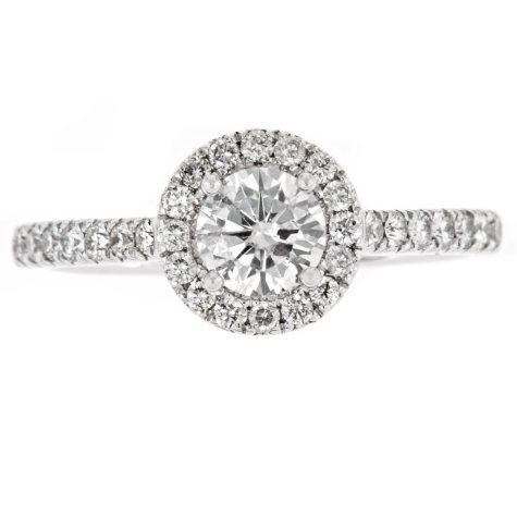 1.0 ct. t.w. Round Diamond Ring in 14K White Gold (H-I, I1)