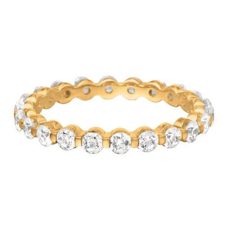 Prong-Set Diamond Eternity Band in 14K Yellow Gold (I, VS2) - 3mm