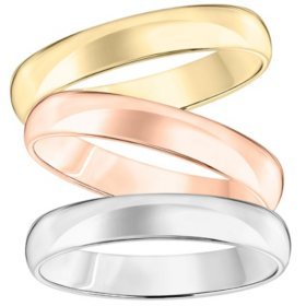4mm Comfort-Fit Wedding Band in 14K Gold