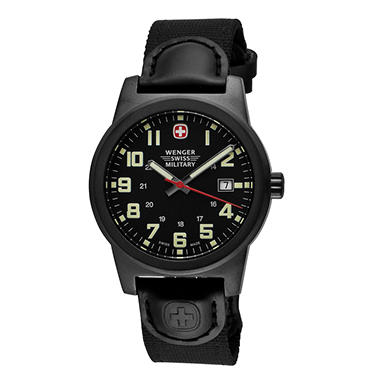 Wenger Swiss Military Classic Field Watch with Gun Metal Case