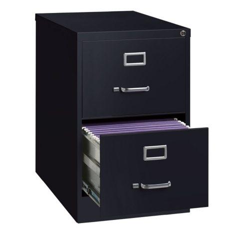 "Hirsh 25"" 2-Drawer Legal File Cabinet, Select Color"