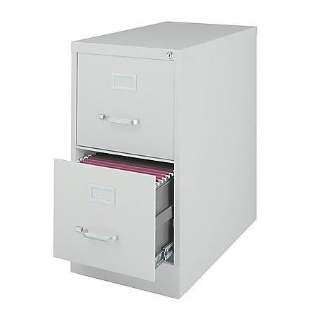 """Hirsh 26 ½"""" 2-Drawer Letter File Cabinet, Select Color"""