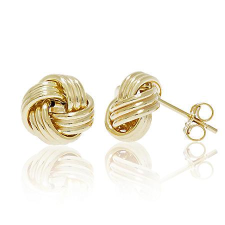 14Kt Gold Love Knotpost Earring Love Knot Earring