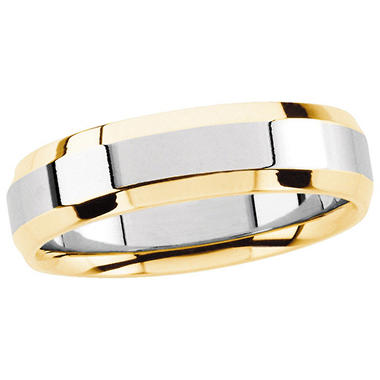 14K Two-Tone Gold 6mm Comfort Fit Band