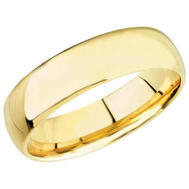 14k Yellow Gold 6mm Comfort Fit Band