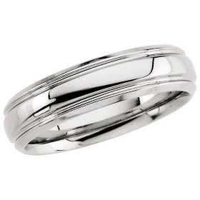 Platinum Comfort-Fit Design Band - 6mm