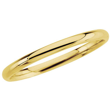 14K Yellow Gold Comfort-Fit Band -  2mm