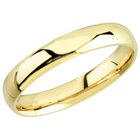 14K Yellow Gold 4mm Comfort Fit Band