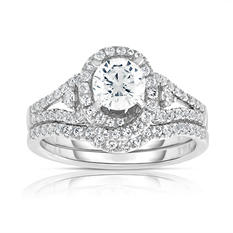 1.25 CT. T.W. Diamond Engagement Ring in 14K Pink and White Gold (HI, VS)