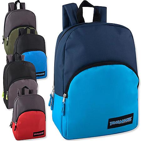 """15"""" Backpack Asst Color Case - 24 pk."""