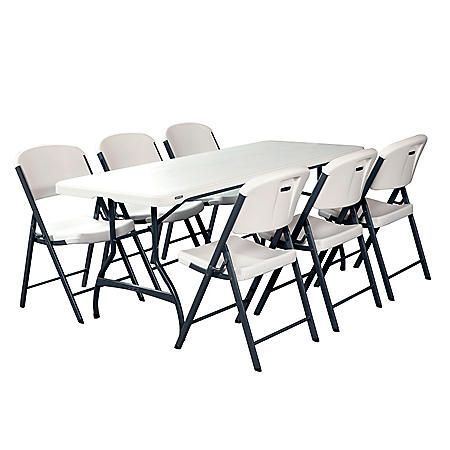 7dea7b48edd Lifetime Combo - 6  Commercial Grade Folding Table and (6) Folding Chairs