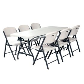 Lifetime Combo  Commercial Grade Folding Table And  Folding Chairs