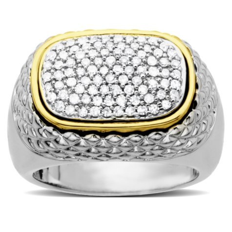 0.46 CT. T.W. Diamond Ring in Sterling Silver and 14K Yellow Gold (H-I, I1)
