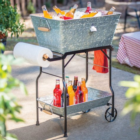 Giftburg Beverage Tub and Serving Cart (Assorted Colors)