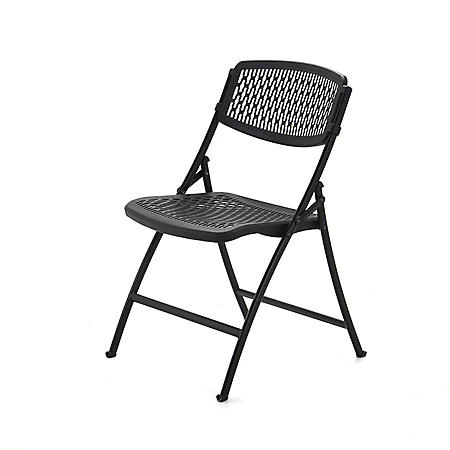 Mity Lite Flex Folding Chair, Black, Choose Your Quantity