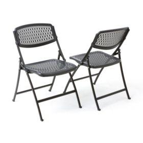 Enjoyable Mity Lite Flex Folding Chair Black 4 Pack Sams Club Creativecarmelina Interior Chair Design Creativecarmelinacom