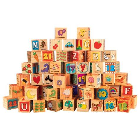 Wooden Blocks Set with Storage Tub - Blocks