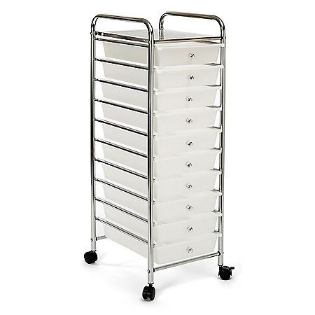Seville Classics 10 Drawer Cart (Multiple Colors)