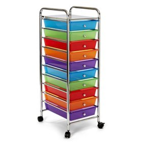 Seville Classics 10 Drawer Cart (Multiple Colors)
