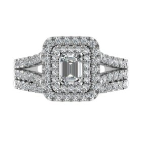 1.95 CT. T.W. Diamond Engagement Ring Set in 14K White Gold