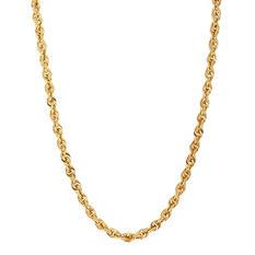 """14K Yellow Gold 24"""" Rope Chain"""