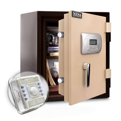 Mesa Safe All Steel U.L. Classified Fire Safe with Interior Light, 1.3 Cubic Feet