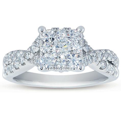 1.25 CT. T.W. Unity Diamond Engagement Ring in 14K White Gold (I, I1)