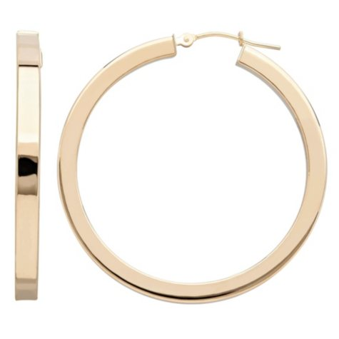 Royale Gold 14K Yellow Gold 40MM Square Hoop Earrings