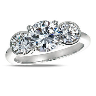 1.00 ct. t.w. Round-Cut Diamond 3-Stone Ring Platinum (I, VS2)