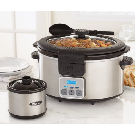Bella Slow Cooker with Bonus Dipper - Stainless
