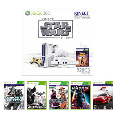 Xbox 360 320GB Star Wars Limited Edition Kinect Bundle with 1 Game (you choose!)