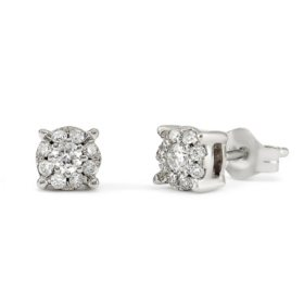 .20 CT.TW. Round Diamond Composite Stud Earring in 14K White Gold HI,I1