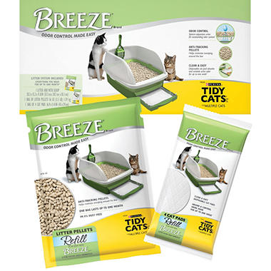 Tidy Cats BREEZE Cat Litter Box Starter Kit Bundle