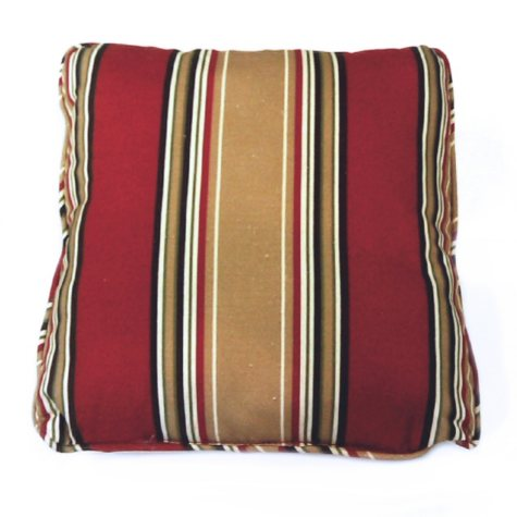 """16"""" Square Outdoor Accent Pillows - Palin Stripe Red - 2 pk."""