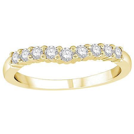 0.32 CT. T.W. Diamond Enhancer Band in 14K Gold (H-I, I1)