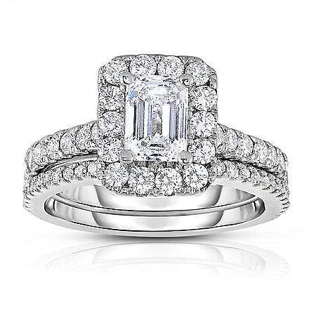 2.20 CT. T.W. Diamond Wedding Set in 14k White Gold
