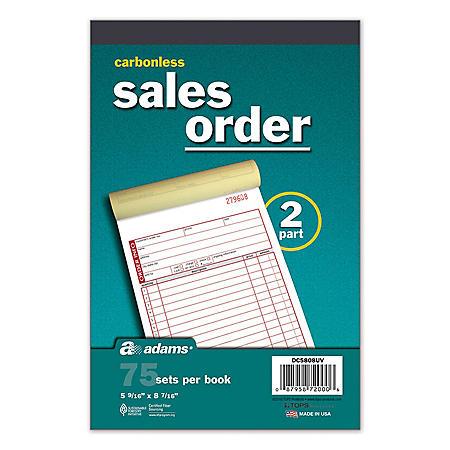Adams - Carbonless Sales Order Book, 75 Sets - 5 Pack