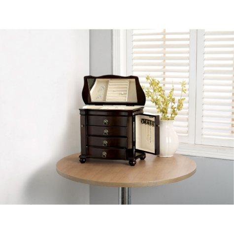 Louis Antique Walnut Jewelry Box