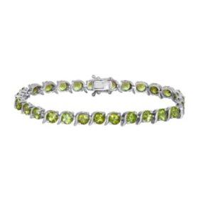 Peridot Bracelet in Sterling SIlver