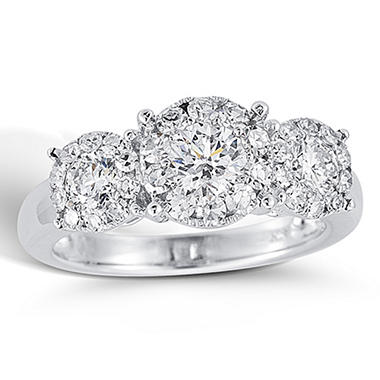 1.50 ct. t.w. Unity Diamond White Gold Halo Engagement Ring (I, I1)