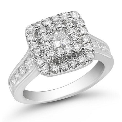2.00 ct. t.w. Unity Diamond White Gold Halo Engagement Ring (I, I1)
