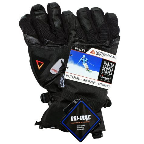 Continental Divide Women's Ski Glove - Black