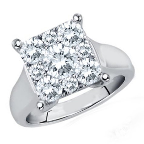 0.75 CT.T.W. Unity Diamond Engagement Ring in 14K White Gold (I, I1)