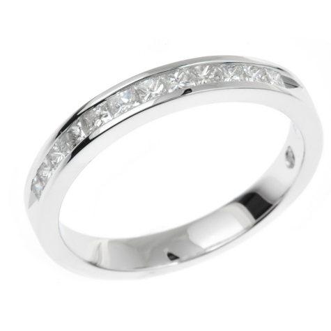 0.45 CT. T.W. Regal Princess-cut Diamond Ring in 14K White Gold (I, SI2)