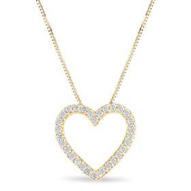 0.23 CT. T.W. Diamond Heart Pendant in 14K Yellow Gold (H-I, I1)