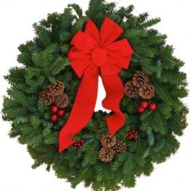 "Christmas Classic 24"" Wreath"